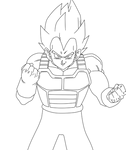 Vegeta .:Lineart31:.