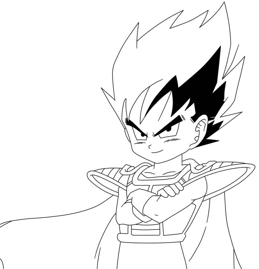 Vegeta lineart34 by prinzvegeta on deviantart for Vegeta coloring pages