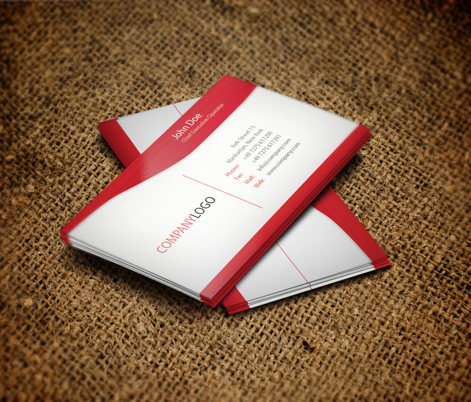 red business card by infectedmedia