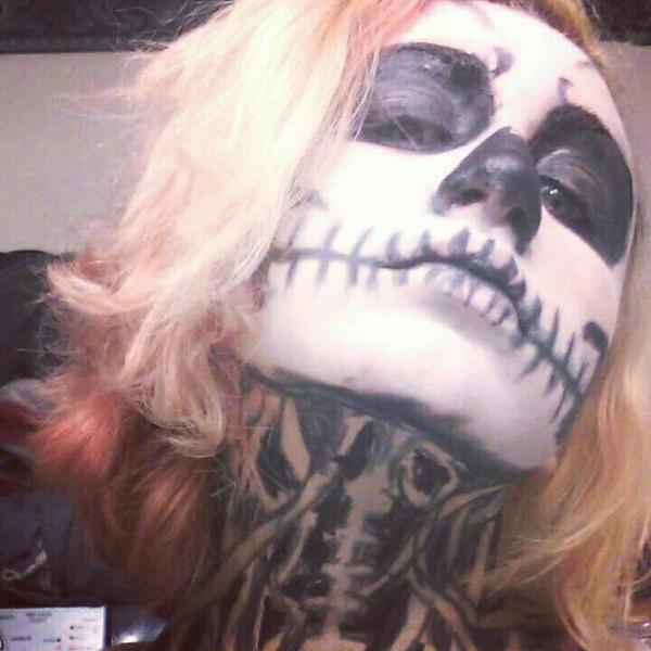 Skeleton makeup # 2 by ShikabaneHime88
