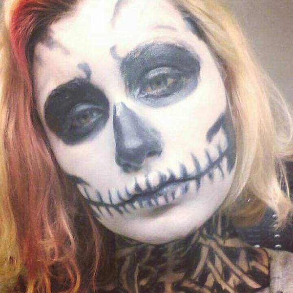 Skeleton makeup # 4 by ShikabaneHime88