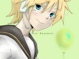LineArt Color: Len Kagamine by MargieRawr-oFTo