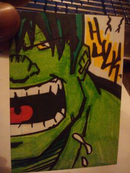 Hulk Sketch Card