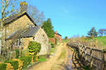 Cotswolds village at Whichford, Warwickshire Engla