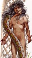 Mowgli meets Kaa