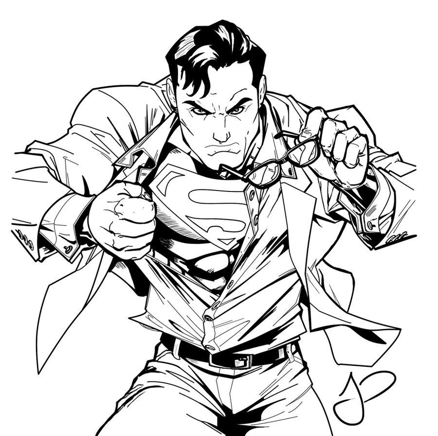 Superman Inked JP by JonnyPhillips on DeviantArt