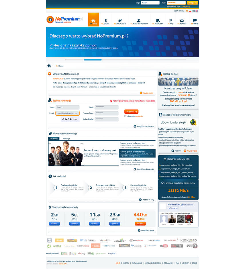 NoPremium.pl - webdesign NEW by Nexert