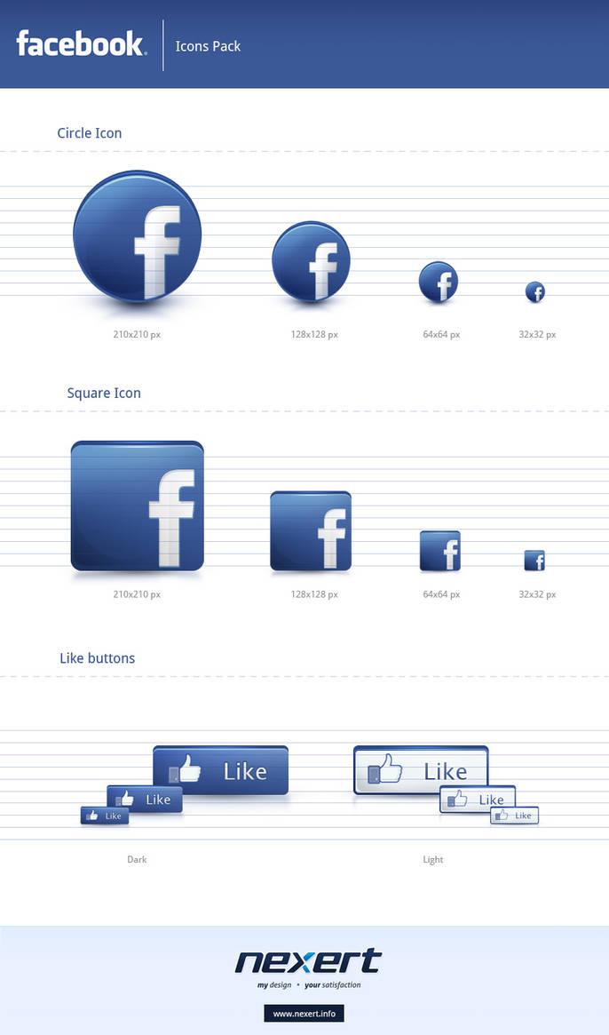 Facebook Icons Pack by Nexert on DeviantArt