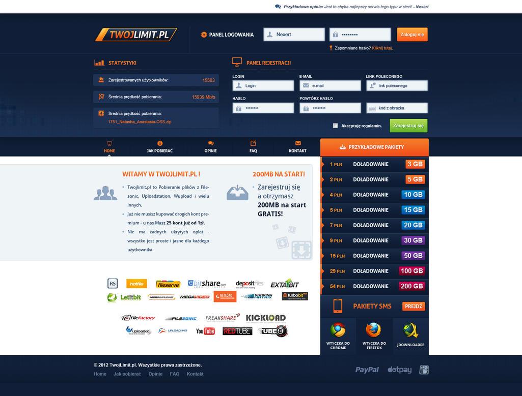 TwojLimit.pl - redesign layout by Nexert
