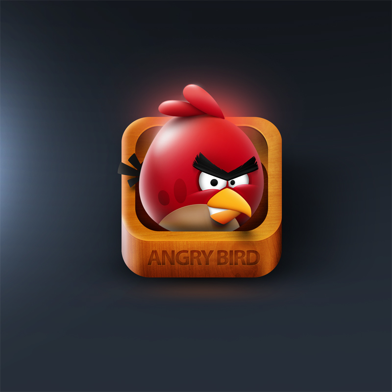 Angry Bird iOS Icon by Nexert