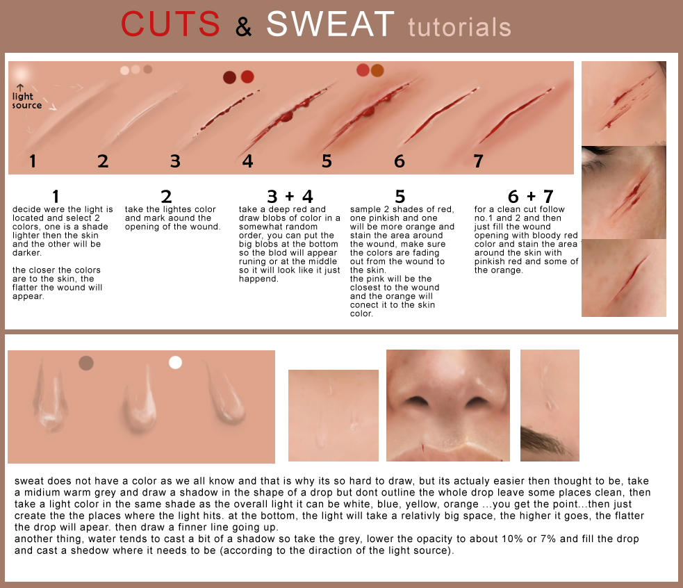 cuts and sweat tutorial by MaayanCohen