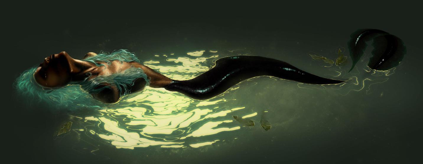 The Amazonian Eel mermaid by MaayanCohen