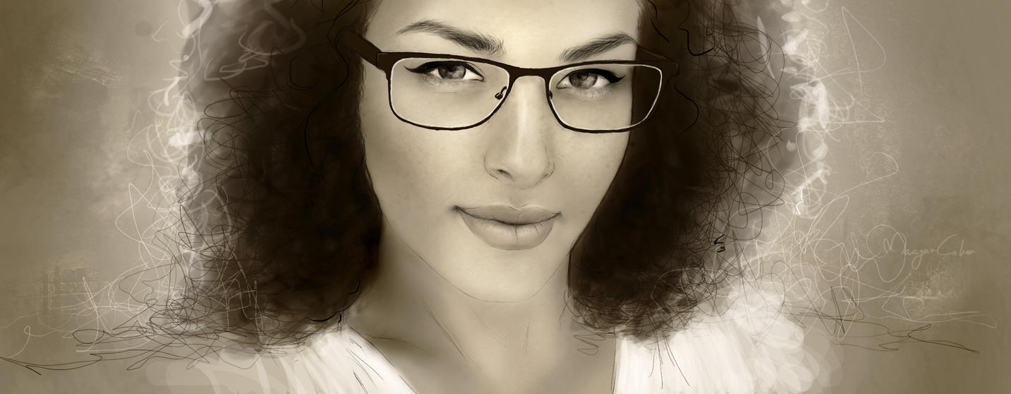 self portrait by MaayanCohen