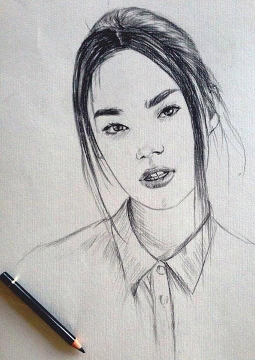 Lia - Sketch by justcallmemike
