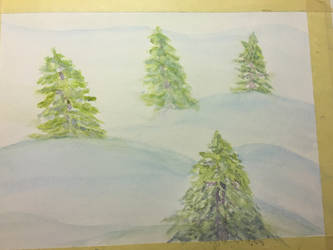 Trees + snow by lilyofthewest