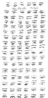 Male Anime Eyes Study