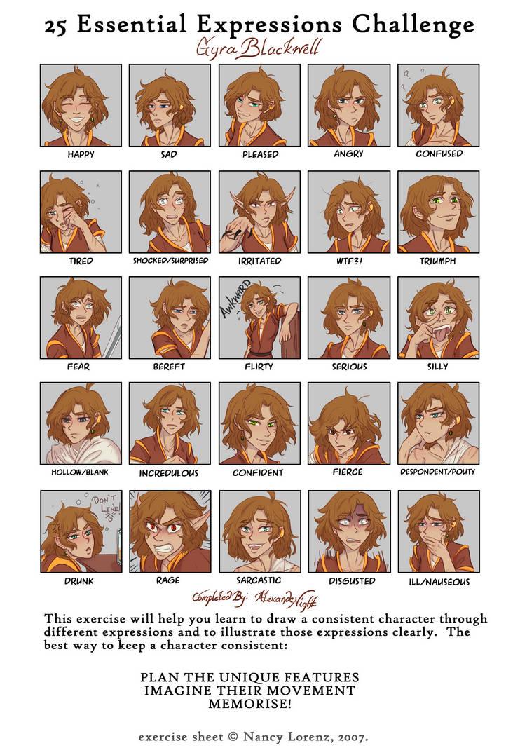 25 expressions meme (AlexandeNight) by AlexandeNight on