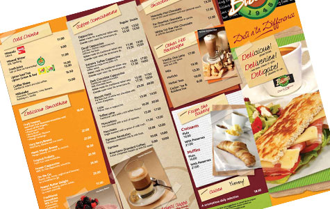 Inspiring Collection Of Menu Card Print And Design By