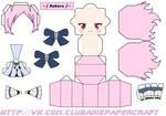Sakura Tsukino Owari No Seraph papercrfat chibi