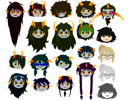 Fantroll (and fankid) headsprites