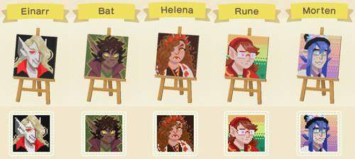 AC:NH vampire portraits