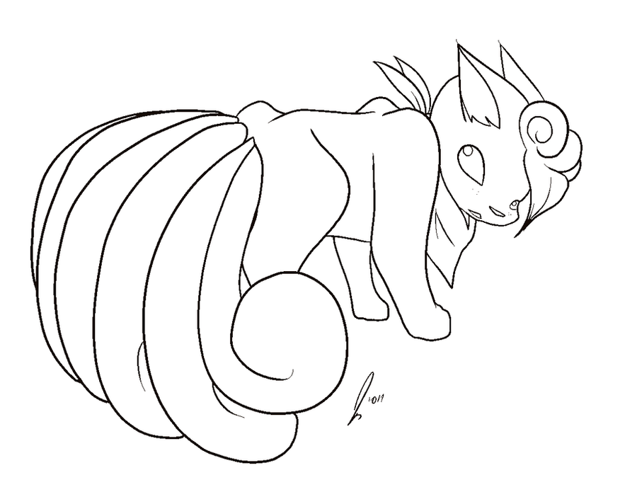 pokemon coloring pages ninetails - photo#34
