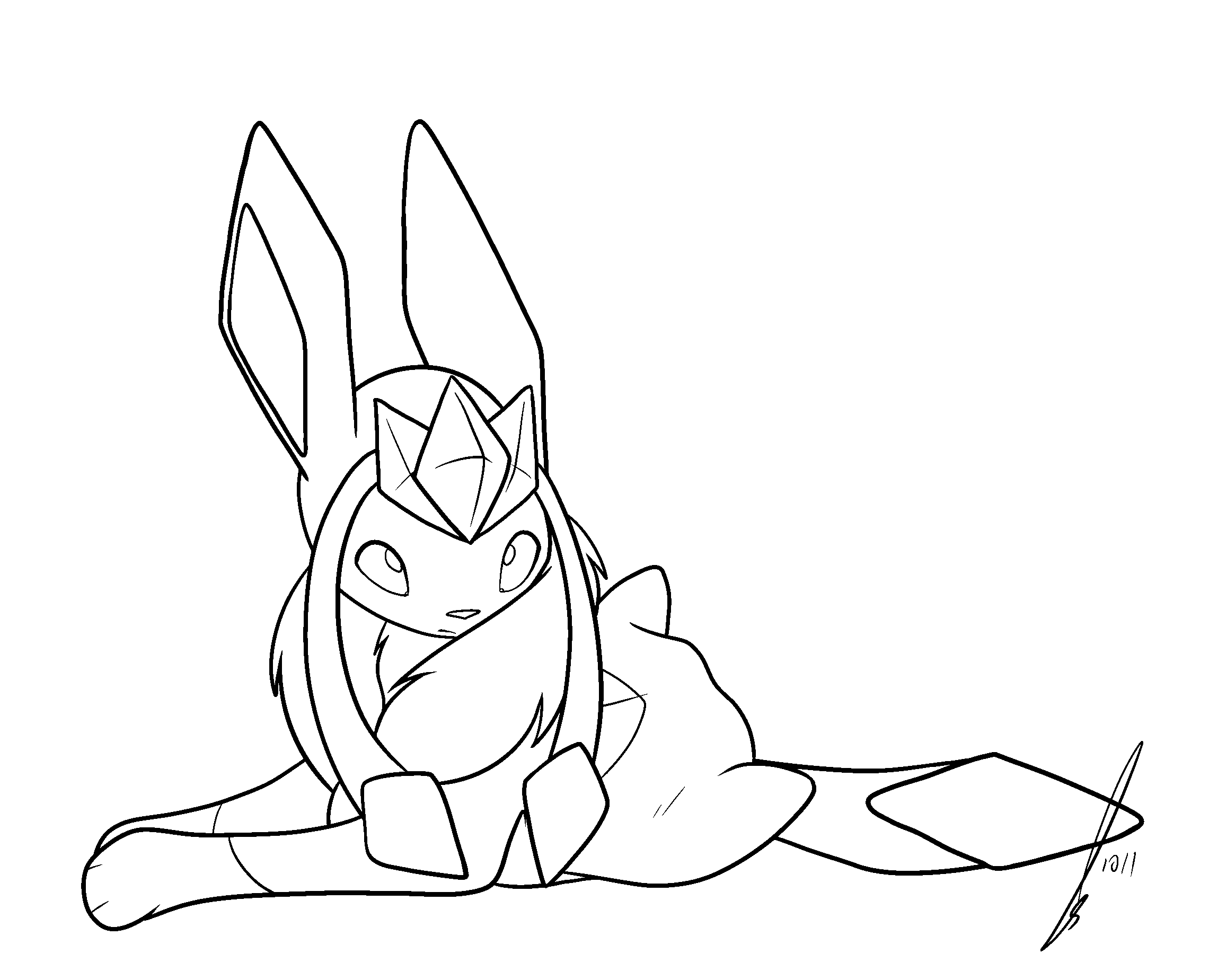 glaceon feather boa lines by jaclynonacloudlines on deviantart