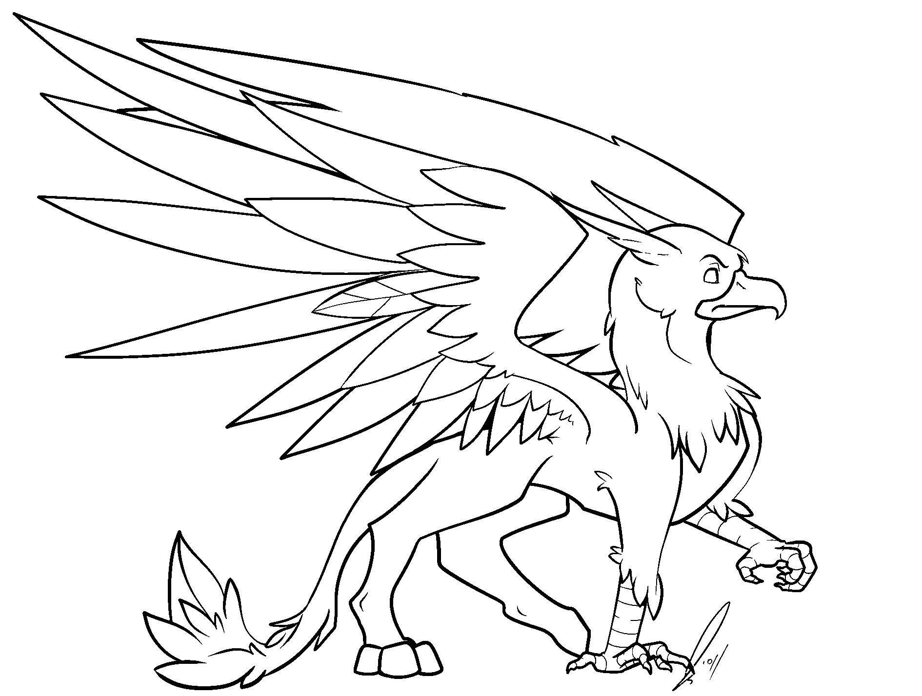 Line Drawing Artist Research : Griffin lines by jaclynonacloudlines on deviantart