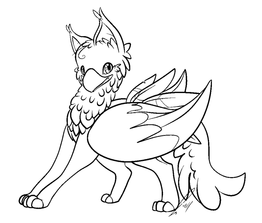 Gryphon Coloring Pages