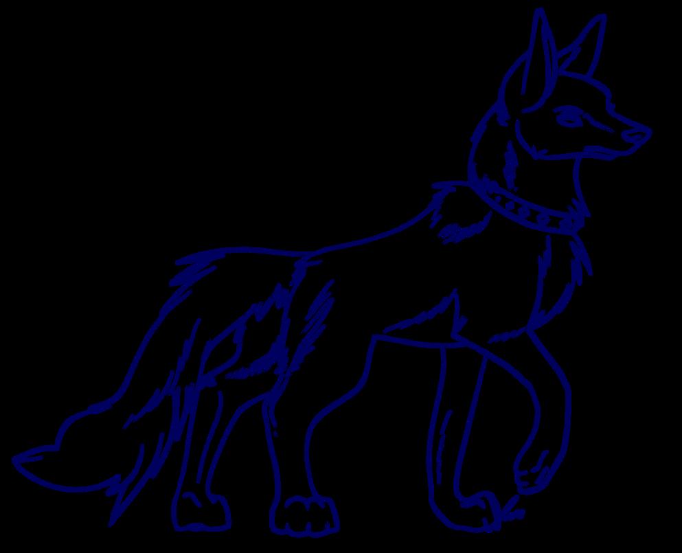 Line Art Wolf : Wolf lineart by jaclynonacloudlines on deviantart