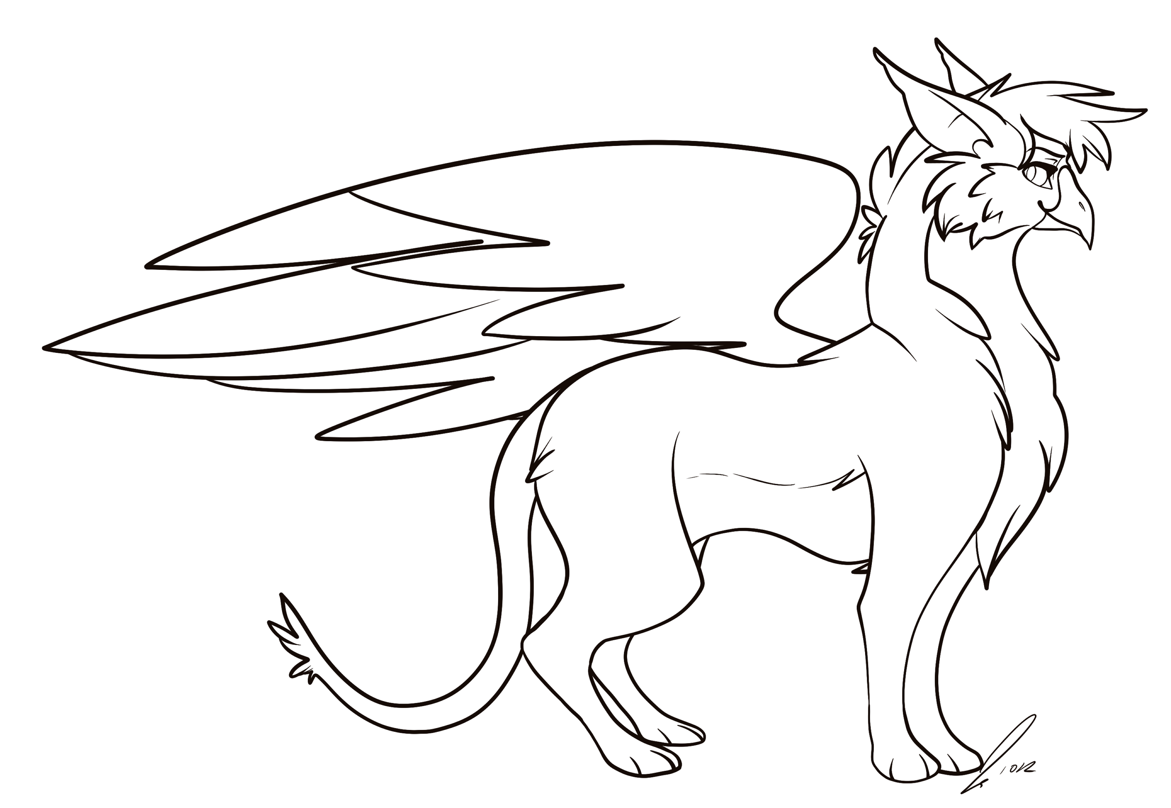 Gryphon Lines by jaclynonacloudlines