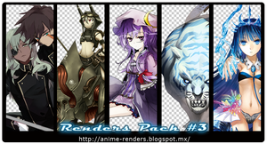 Anime Renders Pack #3