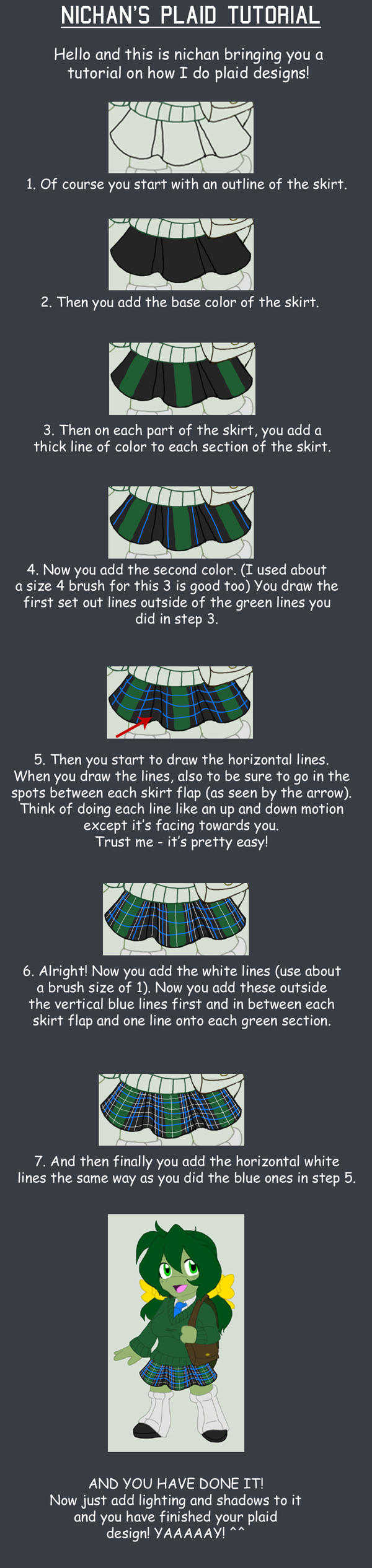 Simple Plaid Tutorial by nichan