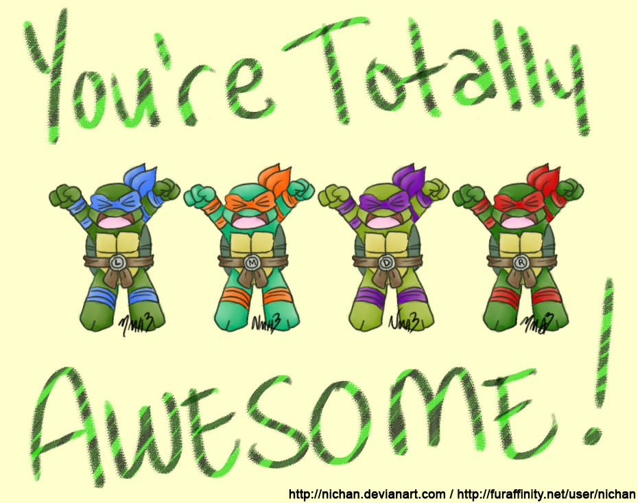 you re totally awesome by nichan on deviantart rh nichan deviantart com you guys are awesome clipart you're awesome clipart