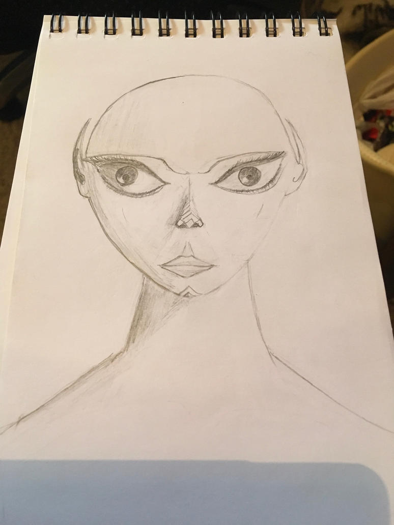 Alien girl by Marduk-IMS