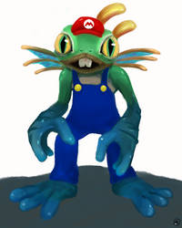 Murky with Mario's suit by Maxie-Bunny