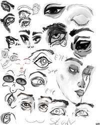 Eye doodles by Maxie-Bunny