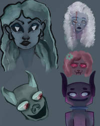 Spook paint doodles by Maxie-Bunny