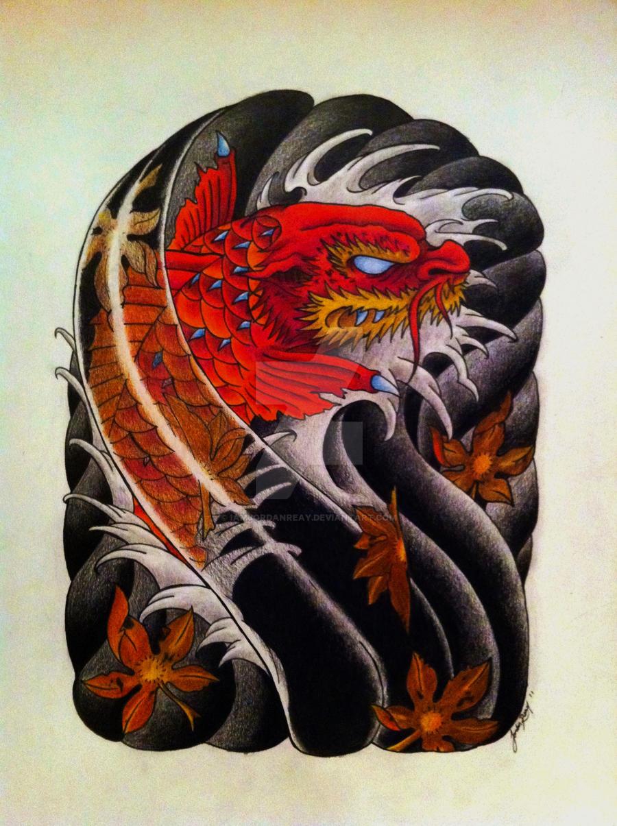 Koi Dragon by IAmJordanReay on DeviantArt
