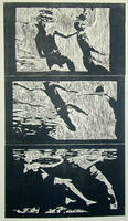 Swimmers Triptych by shuq