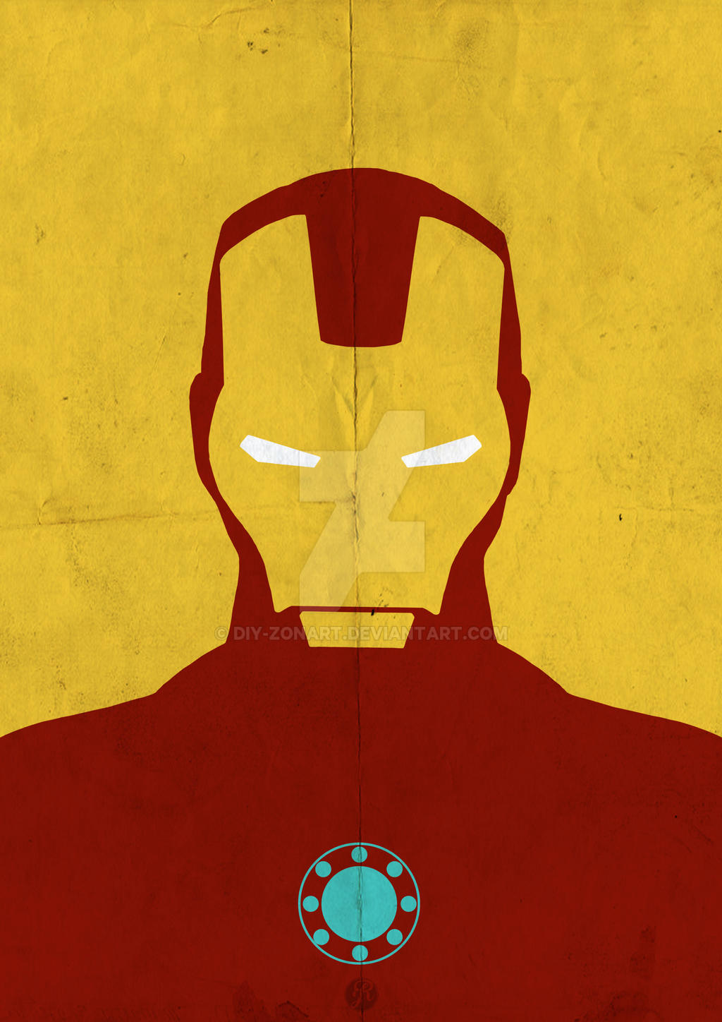 Iron man minimalist by diy zonart on deviantart for Art minimal facebook