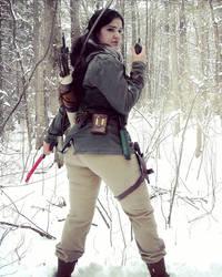 Lara Croft Rise of the Tomb Raider: walkie by Sara-Croft