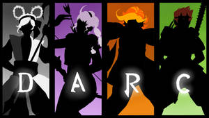 Team DARC Silhouettes by ghostfiish