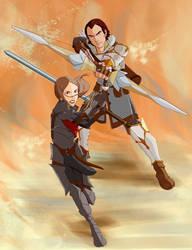 Commission:Sebastian and Hawke
