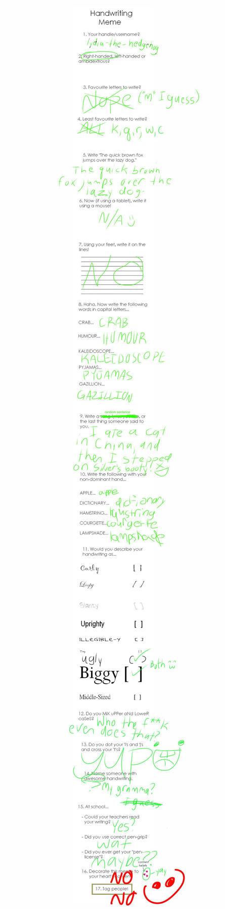 Handwriting Meme by edo67