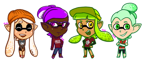 Squid Stickers by edo67