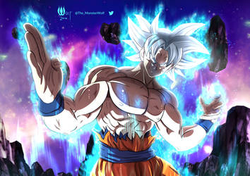 Ultra Instinct Goku by NefariousMonsterWolf