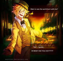 Bill cipher in... otome game??? by sayuttan