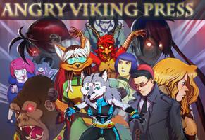 Angry Viking Press in Diamond and KICKSTARTER by JasonCanty
