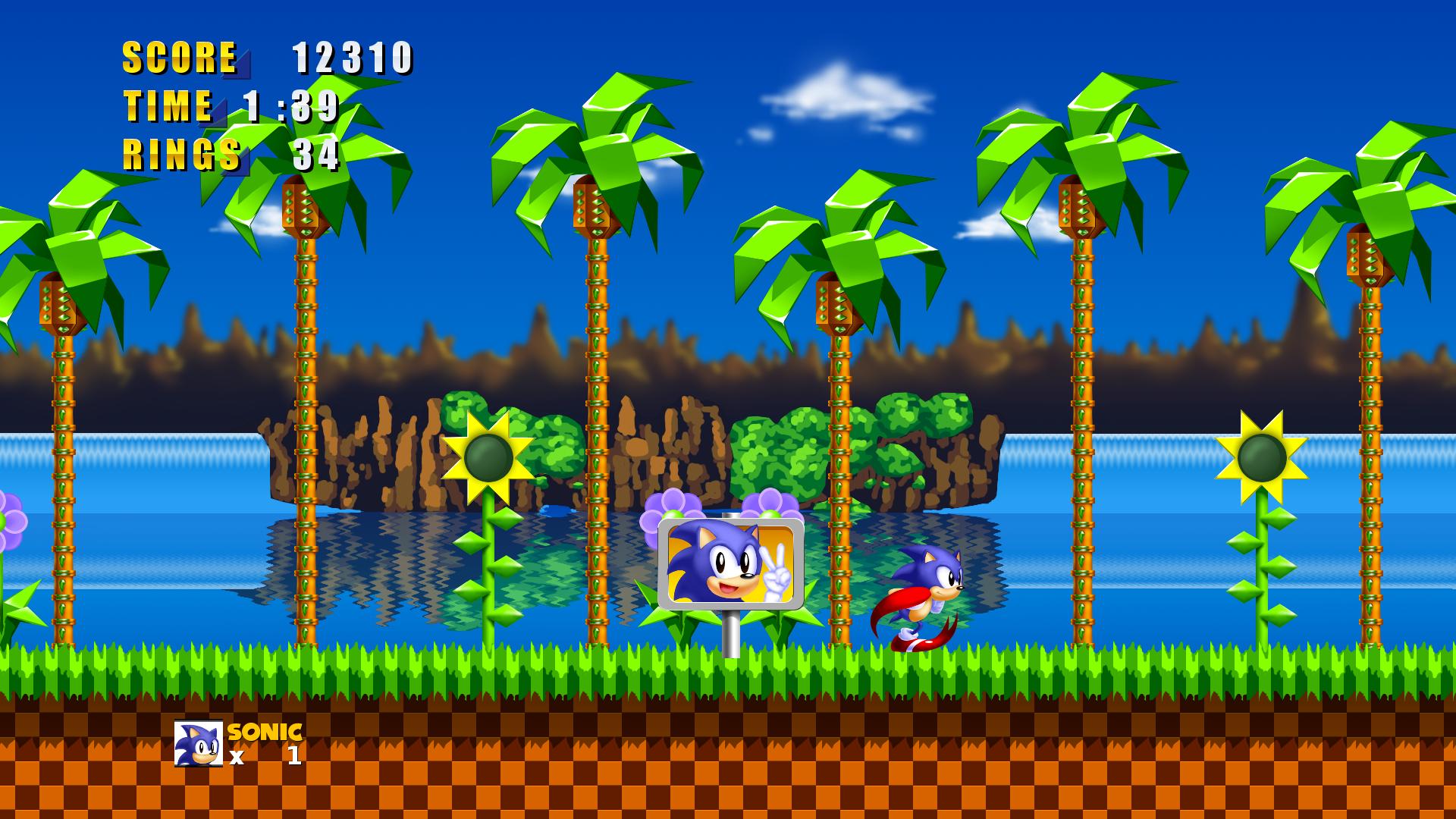 Sonic 1 Hd Green Hill Zone By Hyperchaotix On Deviantart